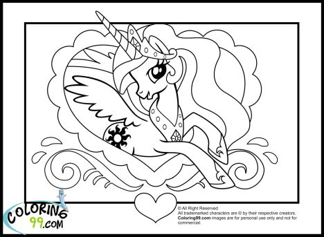 My Little Pony Coloring Pages Princess Celestia 79