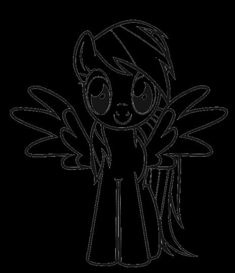 My Little Pony Coloring Pages Rainbow Dash 16