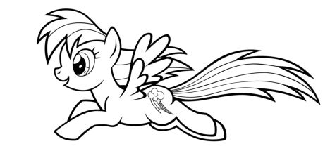 My Little Pony Coloring Pages Rainbow Dash 19