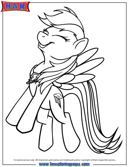My Little Pony Coloring Pages Rainbow Dash 22