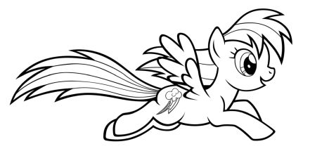 My Little Pony Coloring Pages Rainbow Dash 23