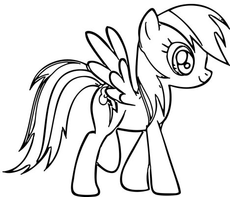 My Little Pony Coloring Pages Rainbow Dash 24
