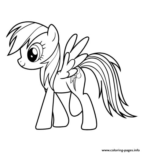 My Little Pony Coloring Pages Rainbow Dash 25