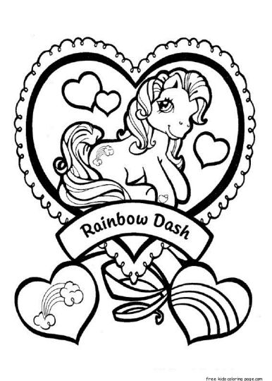 My Little Pony Coloring Pages Rainbow Dash 30