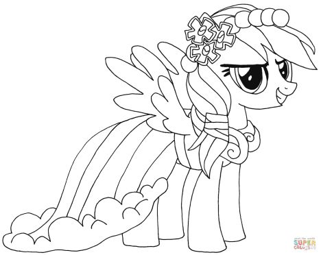 My Little Pony Coloring Pages Rainbow Dash 32