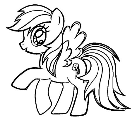 My Little Pony Coloring Pages Rainbow Dash 34