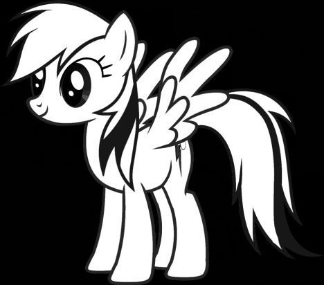 My Little Pony Coloring Pages Rainbow Dash 35