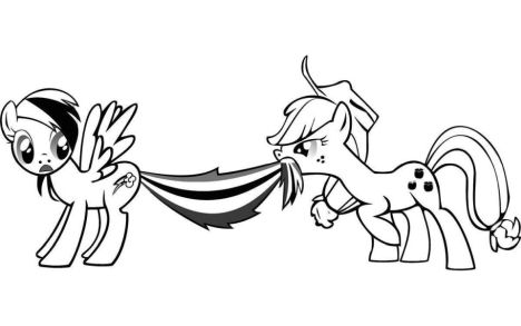 My Little Pony Coloring Pages Rainbow Dash 36