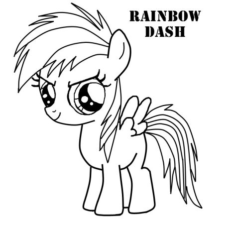 My Little Pony Coloring Pages Rainbow Dash 37