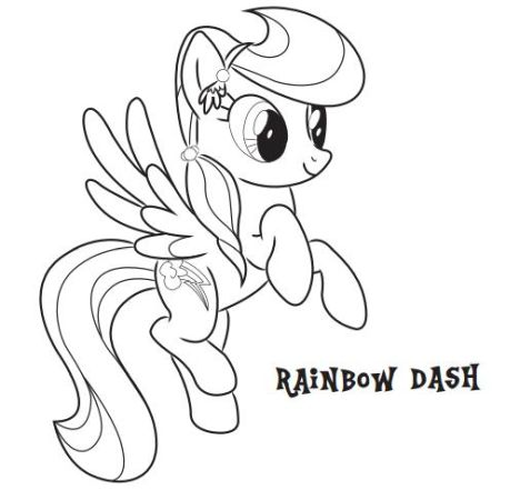 My Little Pony Coloring Pages Rainbow Dash 39