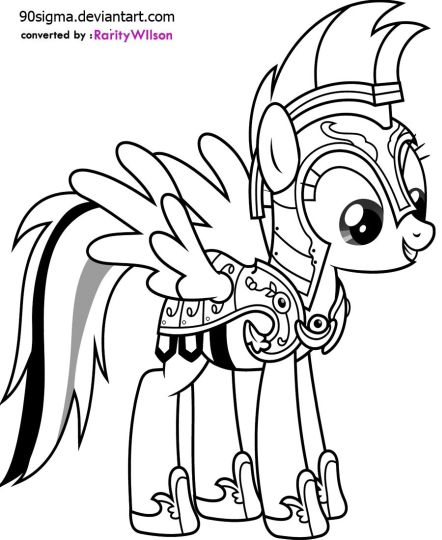 My Little Pony Coloring Pages Rainbow Dash 40