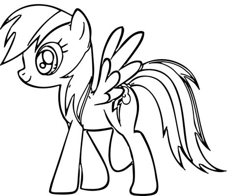 My Little Pony Coloring Pages Rainbow Dash 41
