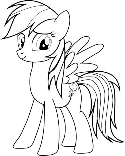 My Little Pony Coloring Pages Rainbow Dash 43