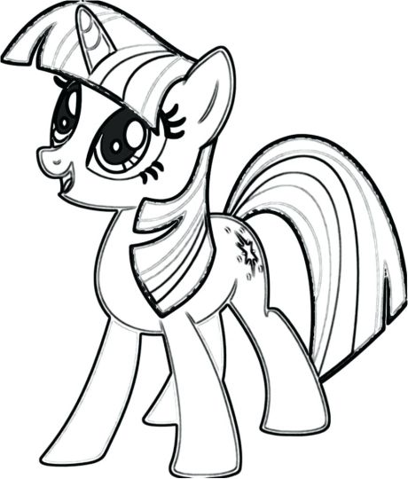 My Little Pony Coloring Pages Rainbow Dash 44