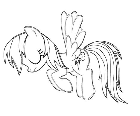 My Little Pony Coloring Pages Rainbow Dash 49