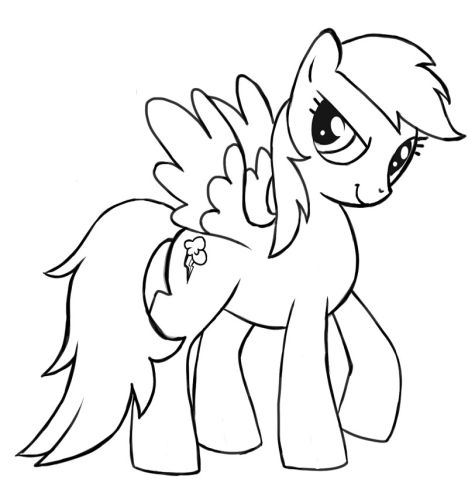 My Little Pony Coloring Pages Rainbow Dash 52