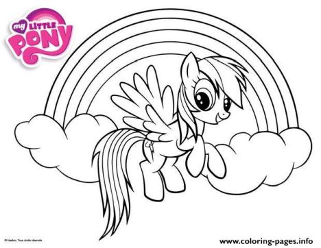 My Little Pony Coloring Pages Rainbow Dash 56
