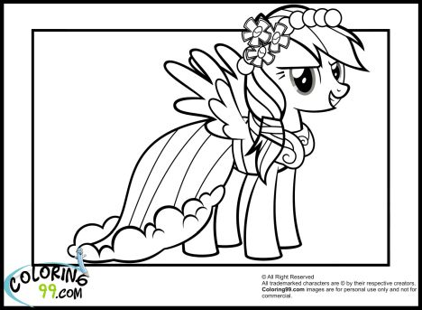 My Little Pony Coloring Pages Rainbow Dash 6