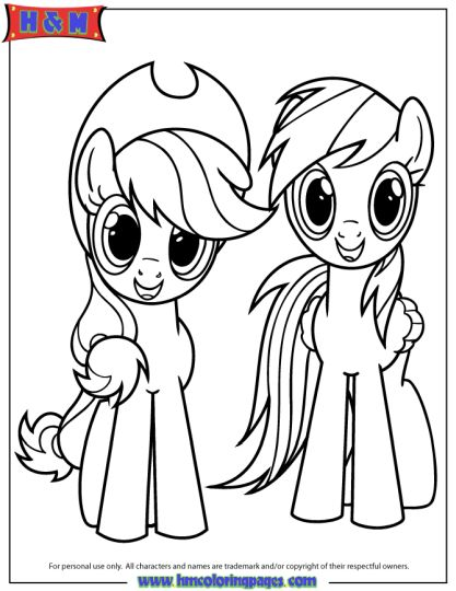 My Little Pony Coloring Pages Rainbow Dash