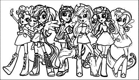 My Little Pony Equestria Girls Coloring Pages Twilight Sparkle 14