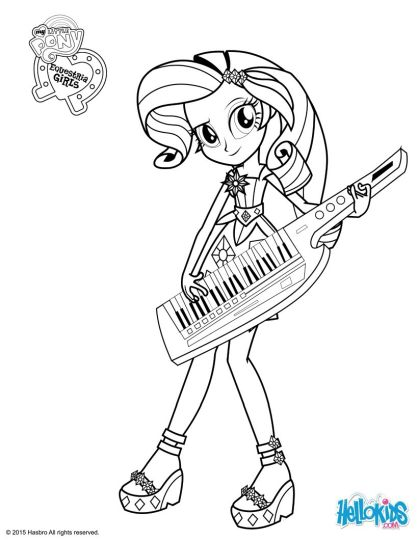 My Little Pony Equestria Girls Coloring Pages Twilight Sparkle 17