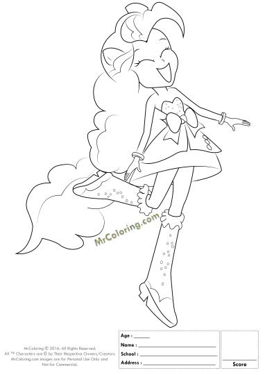 My Little Pony Equestria Girls Coloring Pages Twilight Sparkle 22
