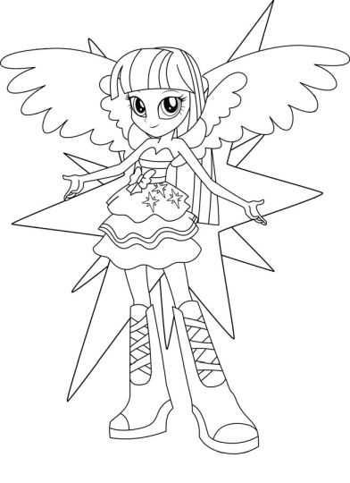 My Little Pony Equestria Girls Coloring Pages Twilight Sparkle 23
