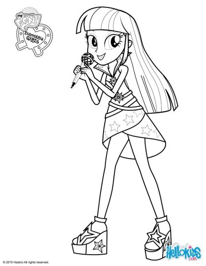 My Little Pony Equestria Girls Coloring Pages Twilight Sparkle 24