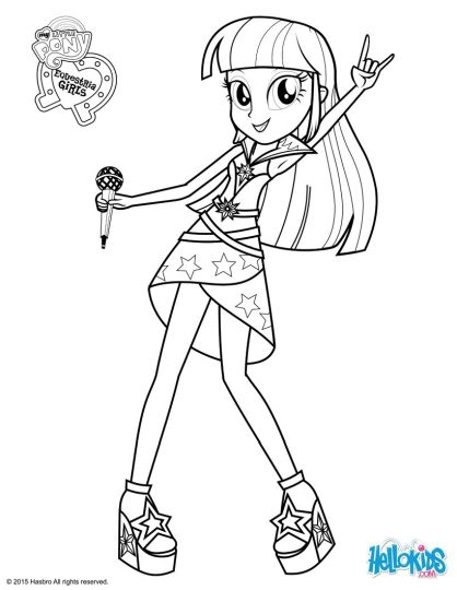 My Little Pony Equestria Girls Coloring Pages Twilight Sparkle 27