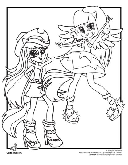 My Little Pony Equestria Girls Coloring Pages Twilight Sparkle 29