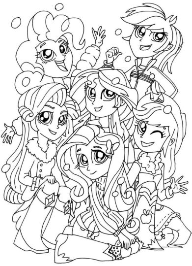 My Little Pony Equestria Girls Coloring Pages Twilight Sparkle 31
