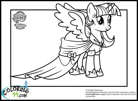 My Little Pony Equestria Girls Coloring Pages Twilight Sparkle 36