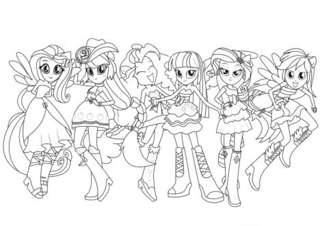 My Little Pony Equestria Girls Coloring Pages Twilight Sparkle 37