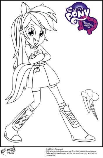 My Little Pony Equestria Girls Coloring Pages Twilight Sparkle 42