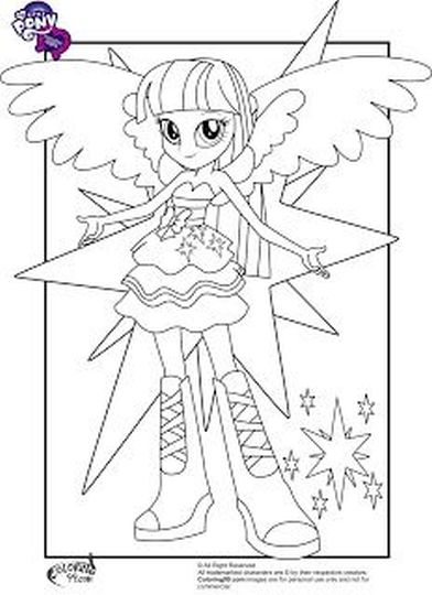My Little Pony Equestria Girls Coloring Pages Twilight Sparkle 45
