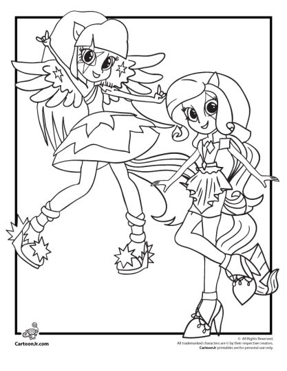 My Little Pony Equestria Girls Coloring Pages Twilight Sparkle 50