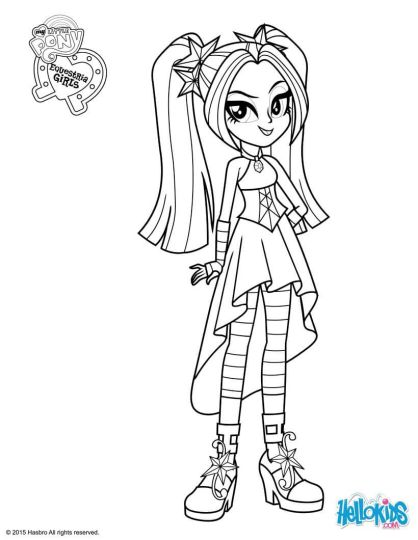 My Little Pony Equestria Girls Coloring Pages Twilight Sparkle 52