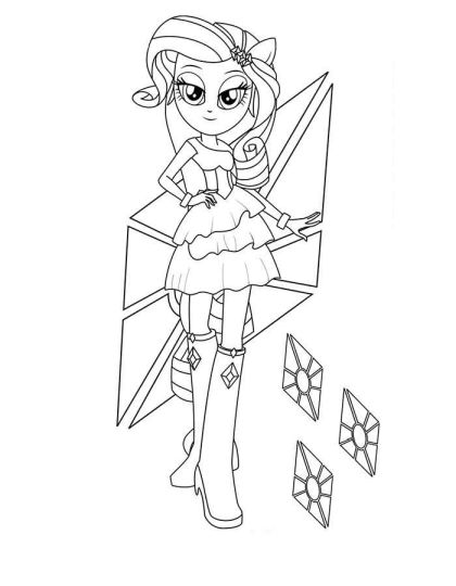 My Little Pony Equestria Girls Coloring Pages Twilight Sparkle 55