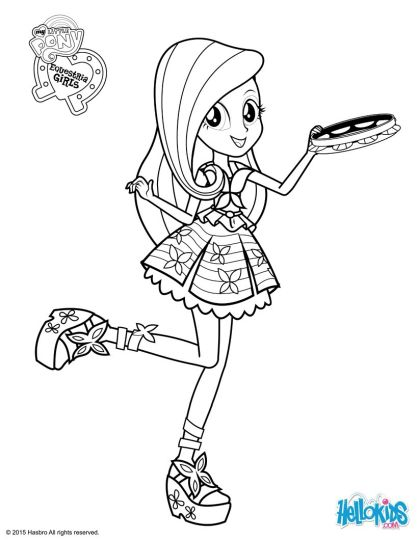 My Little Pony Equestria Girls Coloring Pages Twilight Sparkle 56