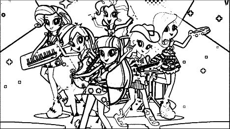 My Little Pony Equestria Girls Coloring Pages Twilight Sparkle 57