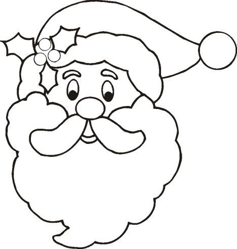 Santa Colouring Pages 1
