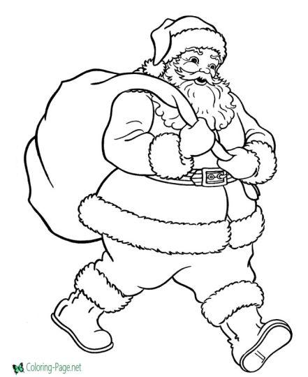 Santa Colouring Pages 14