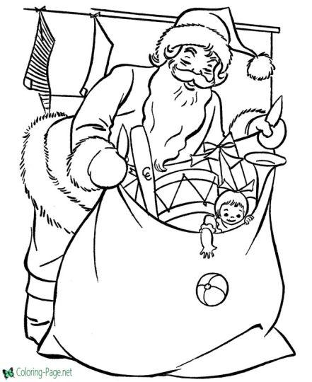 Santa Colouring Pages 16
