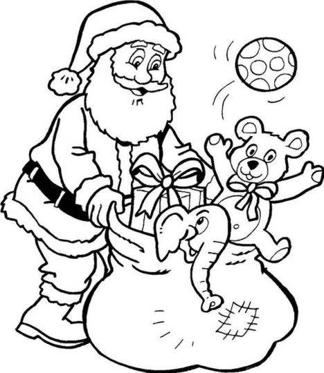 Santa Colouring Pages 21