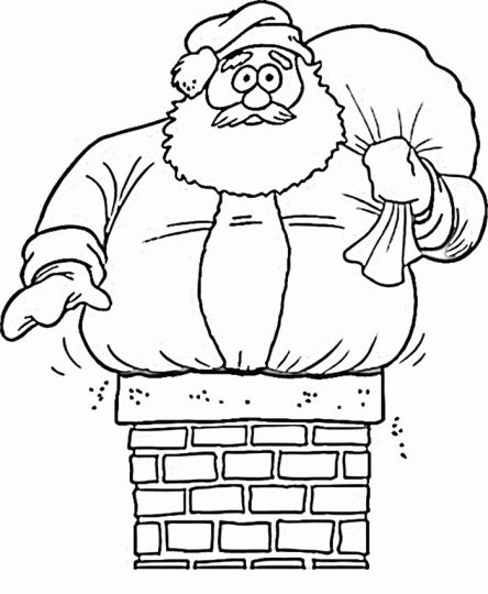 Santa Colouring Pages 22