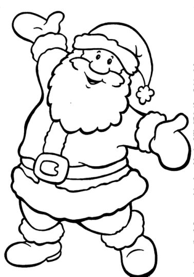 Santa Colouring Pages 24