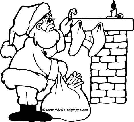 Santa Colouring Pages 25
