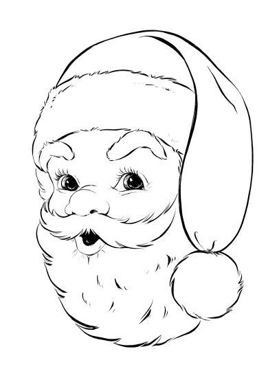 Santa Colouring Pages 26