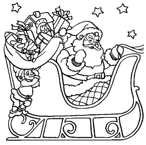 Santa Colouring Pages 27