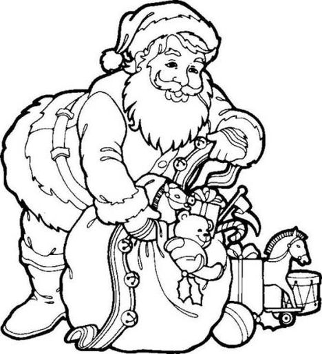 Santa Colouring Pages 28